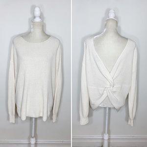 ANN TAYLOR LOFT knit knot twist sweater